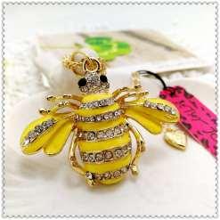 Betsey Johnson Yellow Bee Pendant