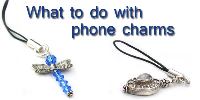 How to use cell phone charms