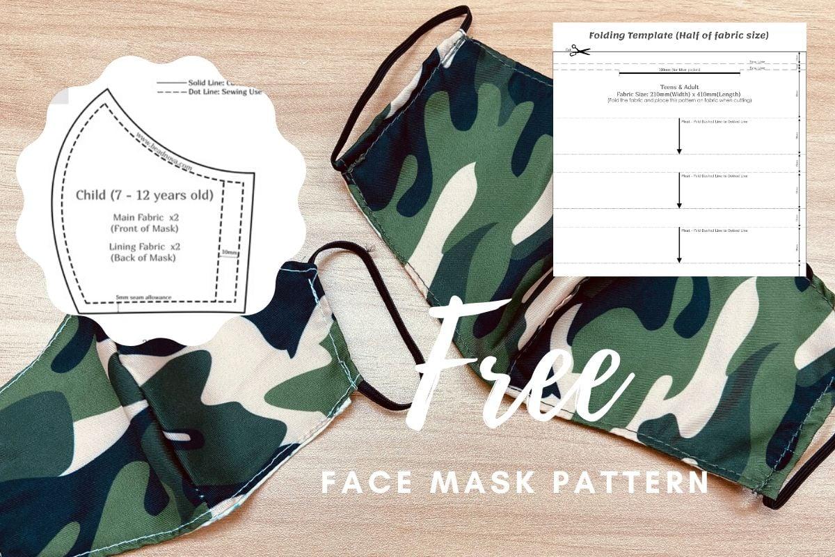 Free printable mask pattern(1)