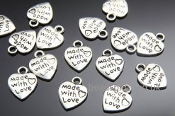 """Made With Love"" Heart Charm"