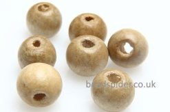 Wood Tan Round Bead