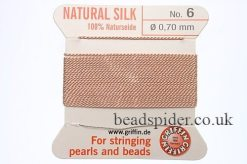 Nude 100% Silk Knotting Thread size 6
