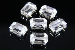 10x14mm Crystal Chaton Rectangle 6pcs
