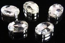13x18mm Crystal Chaton Oval 5pcs