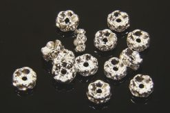 Silver Plated Metal Beads