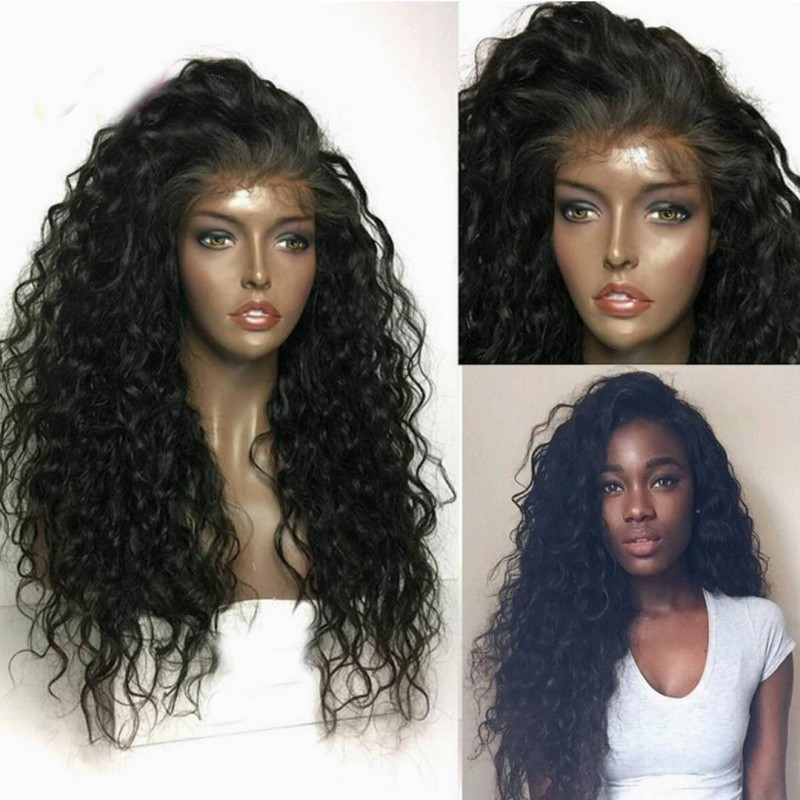 Pre Plucked Brazilian Virgin Curly Wave 360 Frontal Lace