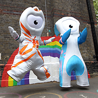 olympic mascots, wenlock, manderville, paralympic, mascot
