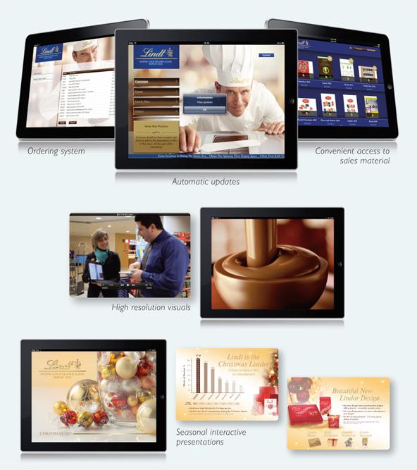 Lindt everyday, lindt & Sprungli, mobile, digital, social media, app,