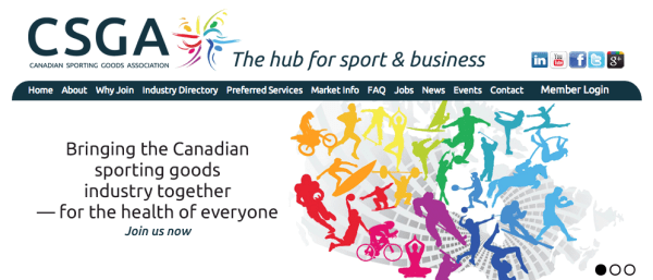 The website is the hub for the CSGA, an organization that is the hub for the industry.