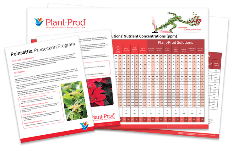 Plant-Prod EC chart and crop sheet