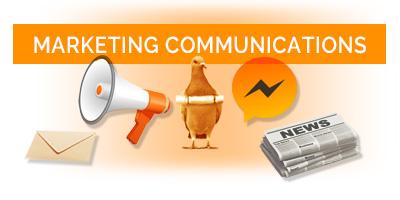 marketing communications button