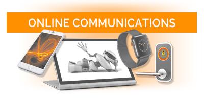 online communications button