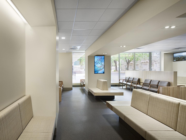 Ryan Veterinary Hospital Lobby BEAM Illuminating Architecture