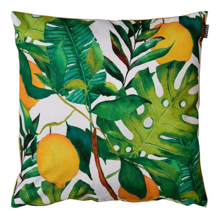 lemon leaf print outdoor cushion