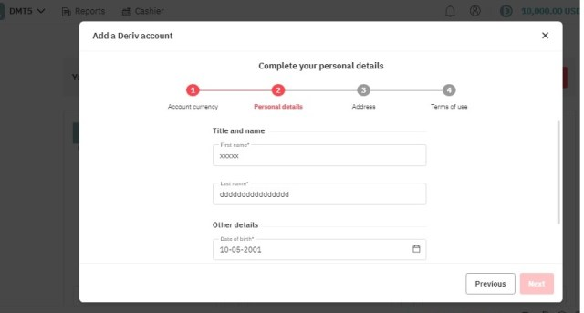 How to open volatility Index account account details