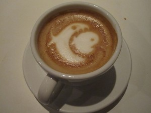 funny latte art