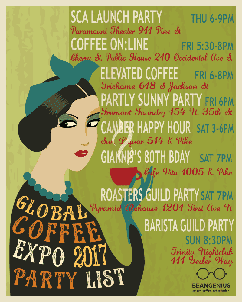 Coffee Expo Parties 2017