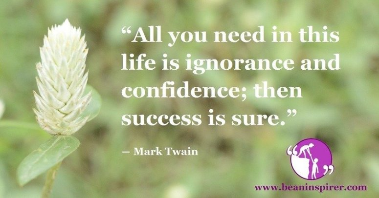 all-you-need-in-this-life-is-ignorance-and-confidence-then-success-is-sure-mark-twain-be-an-inspirer