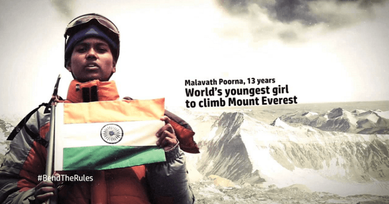 Poorna Malavath - The Youngest Girl To Successfully Climb Mt. Everest