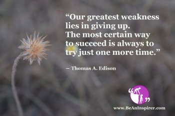 Success Comes From Trying One More Time With Determination
