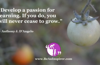 Develop-a-passion-for-learning-If-you-do-you-will-never-cease-to-grow-Anthony-J-D-Angelo-Be-An-Inspirer-FI