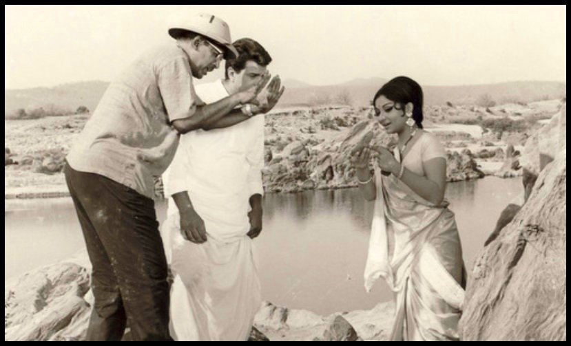 Hrishikesh-Mukherjee-with-Dharmendra-and-Sharmila-Tagore-Be-An-Inspirer