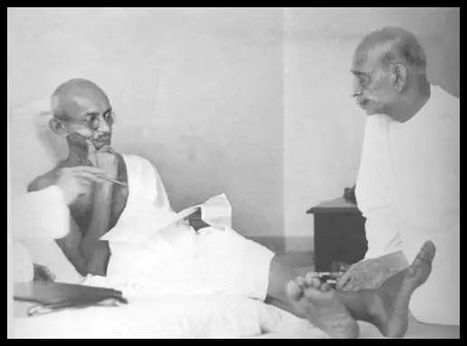 Mahatma Gandhi with Vallabhbhai Patel
