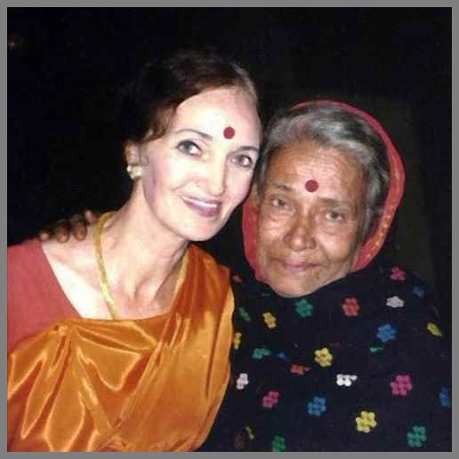 Pratima Barua Pandey with Erika Nandy