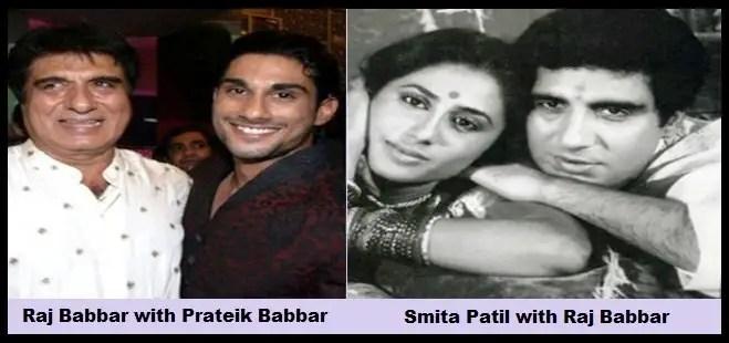 Raj-Babbar-with-Prateik-Babbar-and-Smita-Patil-with-Raj-Babbar-Be-An-Inspirer