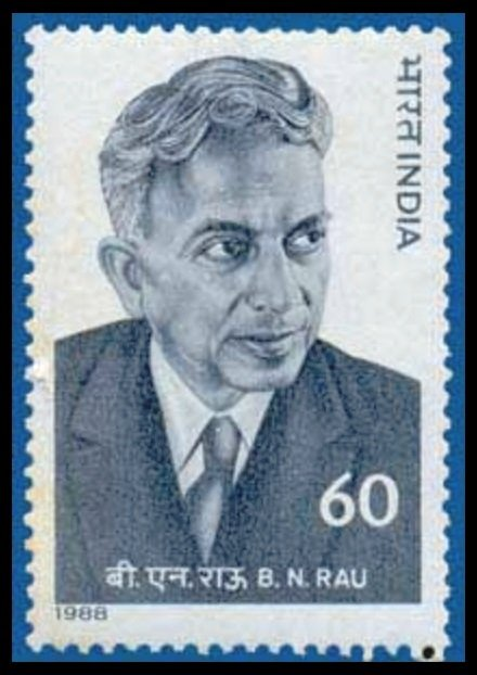Postage-stamp-issued-to-commemorate-the-100-th-birth-anniversary-of-Sir-Benegal-Narsing-Rau-Govt-of-India-in-1988-Be-An-Inspirer