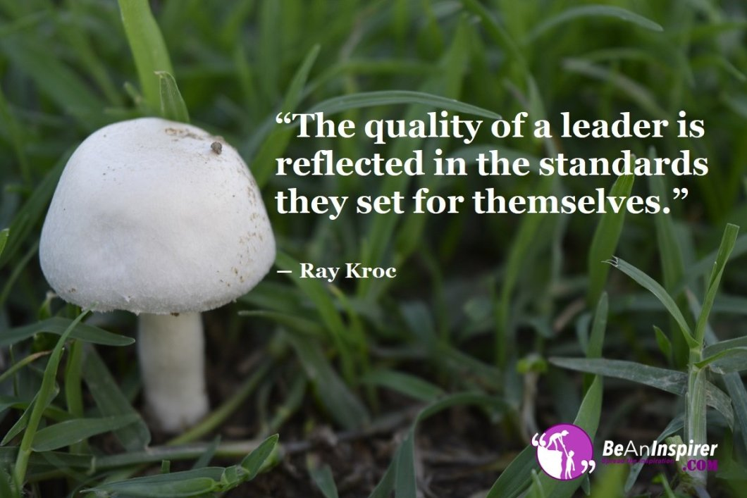 The-quality-of-a-leader-is-reflected-in-the-standards-they-set-for-themselves-Ray-Kroc-Leadership-Quote-Be-An-Inspirer