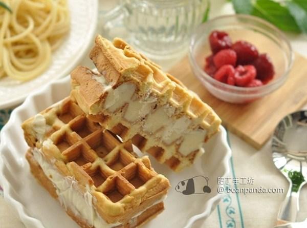 雪糕三文治窩夫【凍掉牙的美味】Icecream Waffle