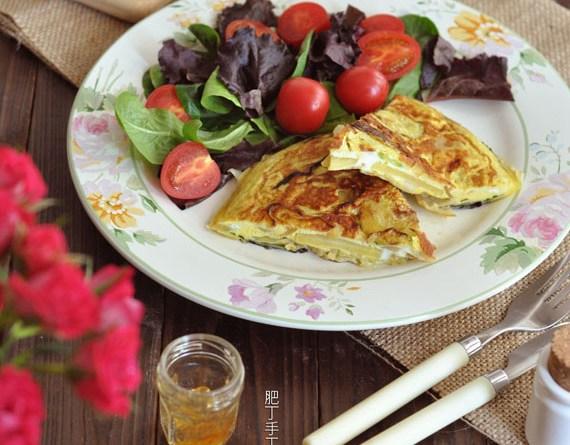 西班牙蔬菜蛋餅【懶人早餐】Spanish Tortilla