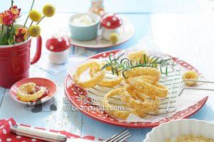 免炸洋蔥圈【香脆低卡】Oven-Baked Onion Rings