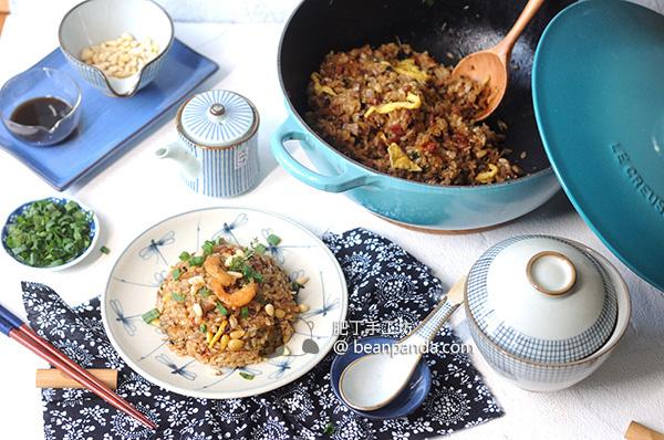 生炒糯米飯【鑄鐵鍋新手不失敗】Fried Glutinous Rice Recipe