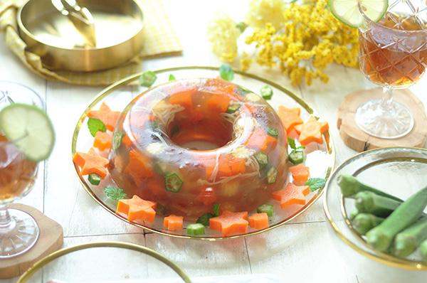 桃膠蔬菜凍 桃膠除了熬甜湯 還可以這樣吃 Peach Resin Vegetable Terrine Recipe