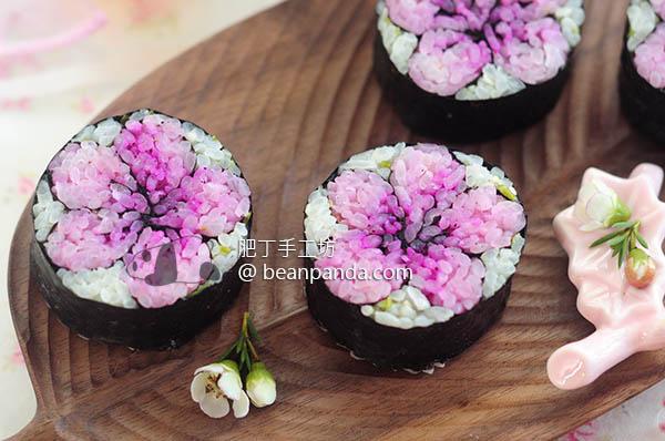我做了櫻花壽司 明年今日相約一起去賞櫻 How to make Sakura Sushi (Cherry Blossom)