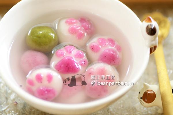 貓掌湯圓【糯米現磨超彈 Q】抗拒不了的粉嫩肉球 Super Cute Cat Paw Mochi Dumplings