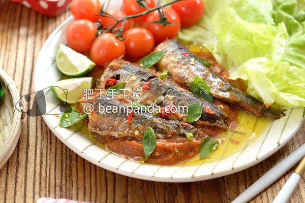 沙丁魚罐頭【魚骨軟化不挑刺】完全煎魚細節不黏鍋 Homemade Sardine in Tomato Sauce Recipe