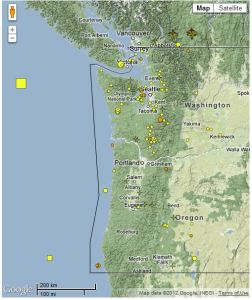 Recent Pacific Northwest Earthquakes
