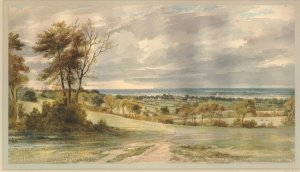 The Weald of Kent in watercolour by Henry Edridge. Darwin calculated it to be 300m years old. Image © Trustees of the British Museum