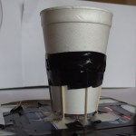 home made loud speaker, coffee cup, kitchen table physics