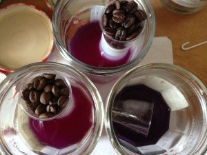 water acidification via coffee beans