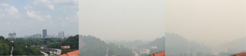 the haze is coming in