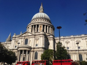 View of St Paul's Cathedral London