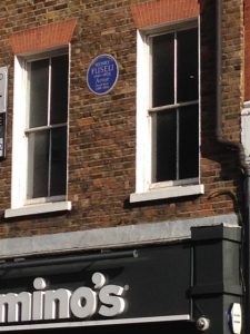 Blue plaque Foley St