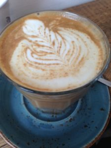 soya latte at the coffee jar camden