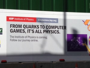 IoP poster in Kings Cross