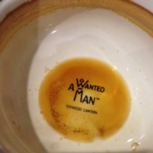 A wanted man, Chelsea, coffee cup