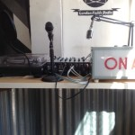 the broadcasting equipment at the WW cafe Hackney